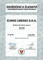 Osvědčení o členství v Hospodářské komoře ČR 13. 3. 2007