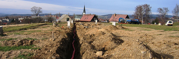Construction operation and isolated excavation Liberec